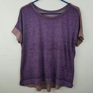 Athleta purple tee shirt size S